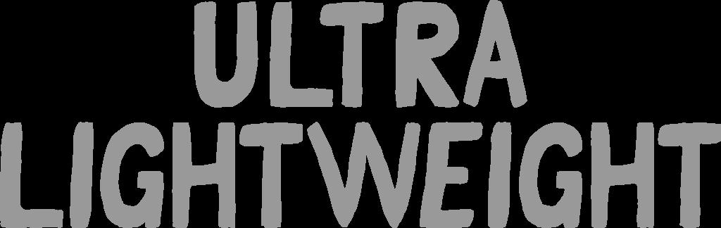 ultra lightweight header text